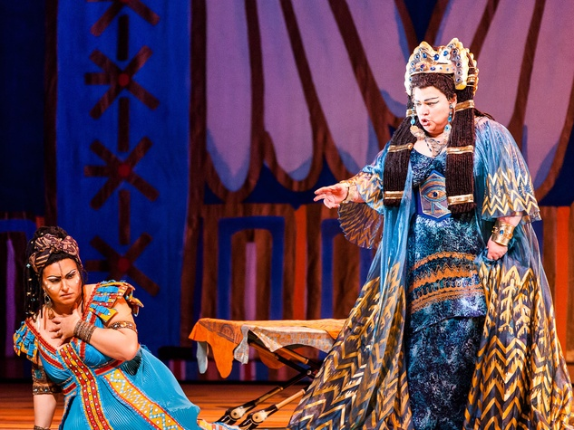 Houston Grand Opera Verdi's Aida Liudmyla Monastyrska as Aida and Dolora Zajick as Amneris