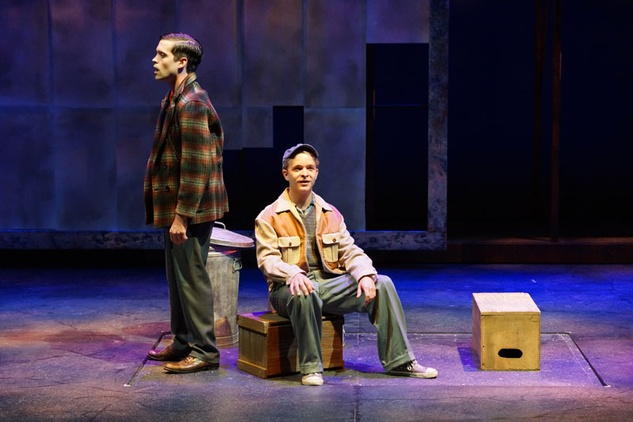 Rick and Danny in the World Premiere of Steven Dietz's MAD BEAT HIP & GONE