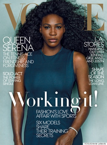 Serena Williams on cover of Vogue April 2015