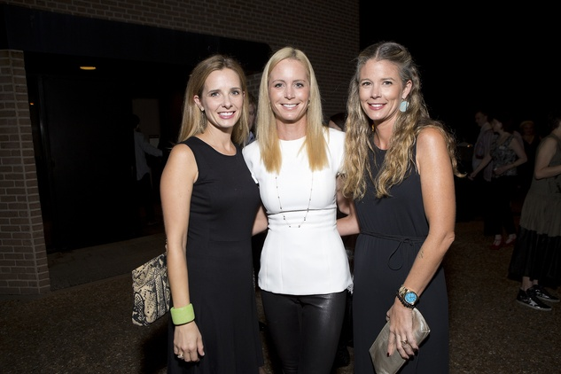 Ashley Landers, from left, Laura Robertson and Katherine Houston at the Rothko Chapel Moonrise Party October 2014