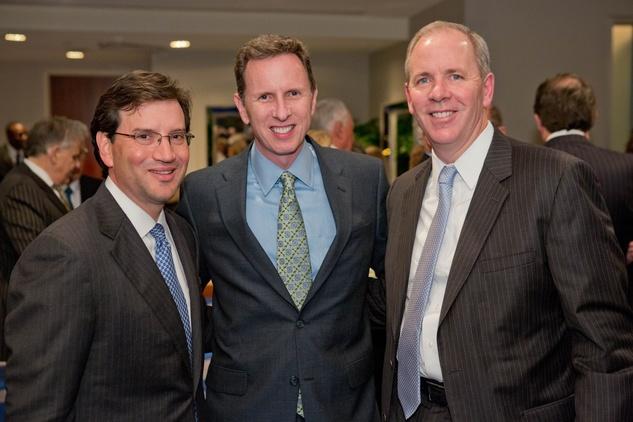 042 23 Mick Cantu, from left, Marc Vandermeer and Mark Houser at Houston Methodist's Rendezvous in Blue Gala November 2013