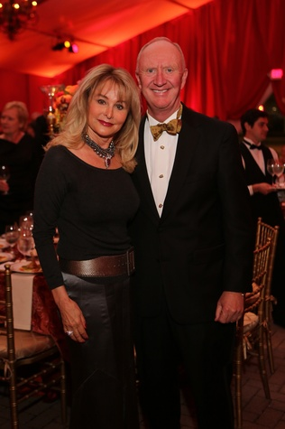 Michelle and Frank Hevrdejs at the HGO Opening Night Celebration October 2014