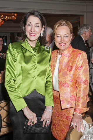 Susie Criner, left, and Marianne Ivany at the Cornerstone Dinner February 2015