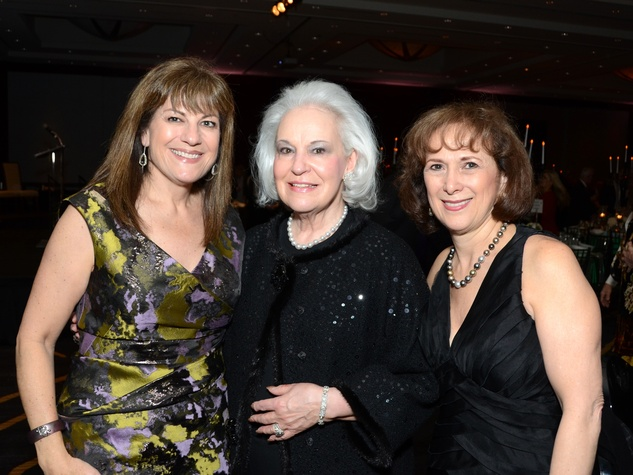 125 Ellie Francisco, from left, Donna Bruni and Franelle Rogers at the Greater Houston Women's Hall of Fame Gala December 2013