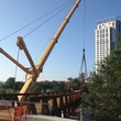 Installation of Final Bridge Span for Pedestrian Bridge at Jackson Hill Street Houston June 2013