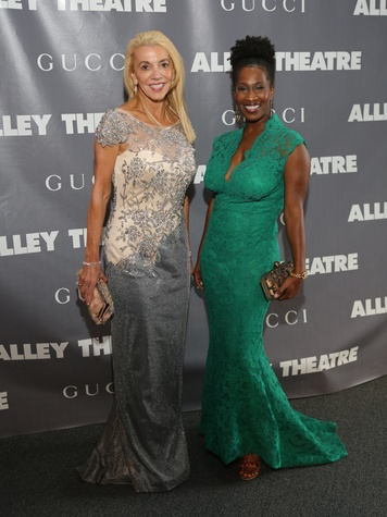 Marie Taylor Bosarge, left, and Aisha Ussery at the Alley Ball April 2014
