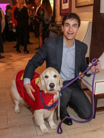 Dominic Cellitti with Brady at the Best Friends Brunch February 2014