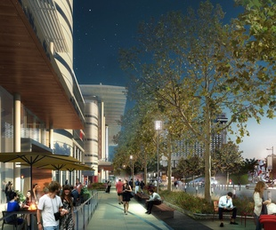 Avenida Houston sidewalk rendering
