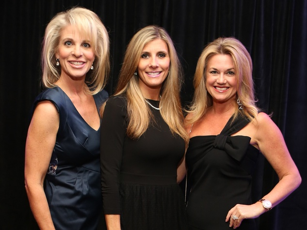 328 Bethany Hughes, from left, Gina Bhatia and Millette Sherman at Catwalk for a Cure November 2013