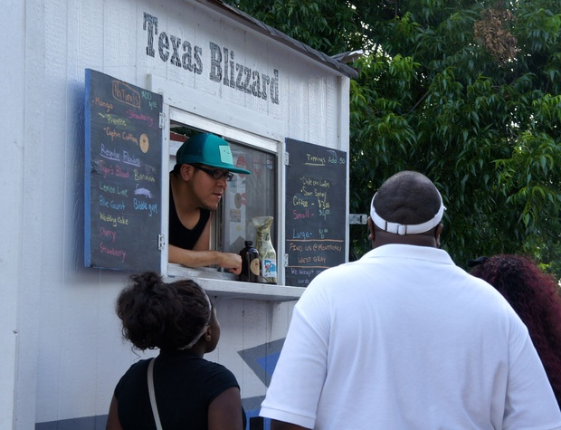 Houston Food Park grand opening Texas Blizzard truck