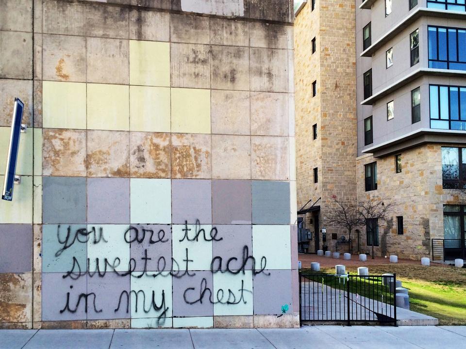 Street Art of Love and Heartbreak in Austin 11