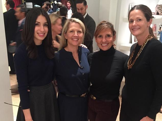 Ali Espinosa, from left, Libbye Morrell, Terri Menchacha and Ann Goodman at Sid Mashburn + Ann Mashburn Houston Anniversary Party December 2014