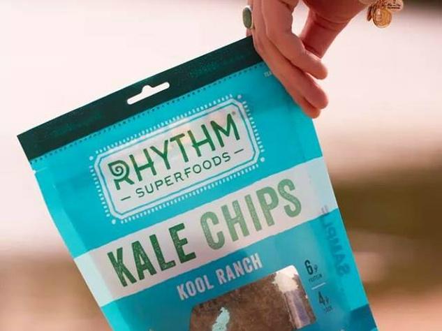Rhythm Superfoods kale chips ranch flavor bag