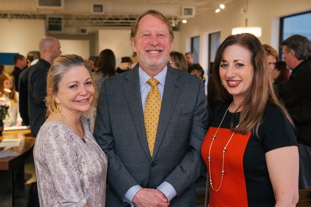 12 Mimi Del Grande,  from left, Harrison Williams and Lori Rubin at the Lynn Goode Vintage opening reception March 2014