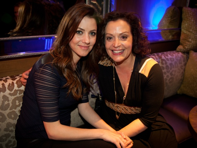 Julie Gonzalo and Marlene Forte, JW Ewing bourbon launch party