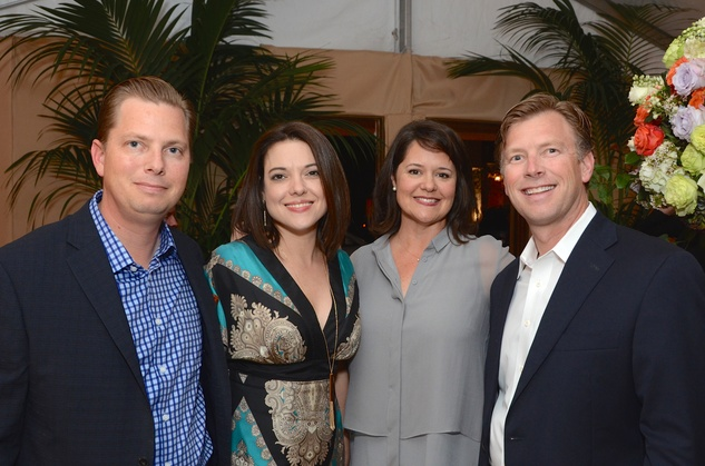 Scott and Stacey Butler, from left, and  Chris and Bo Butler at the Butler Brothers party November 2014
