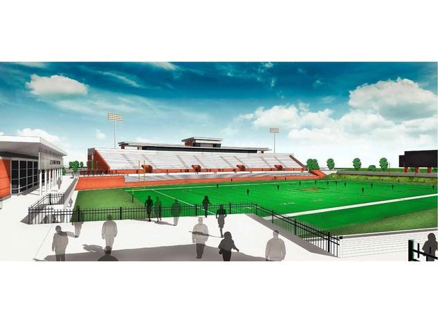 Katy football stadium rendering of field