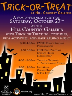 Austin Photo_Events_Galleria Trick or Treating_Poster