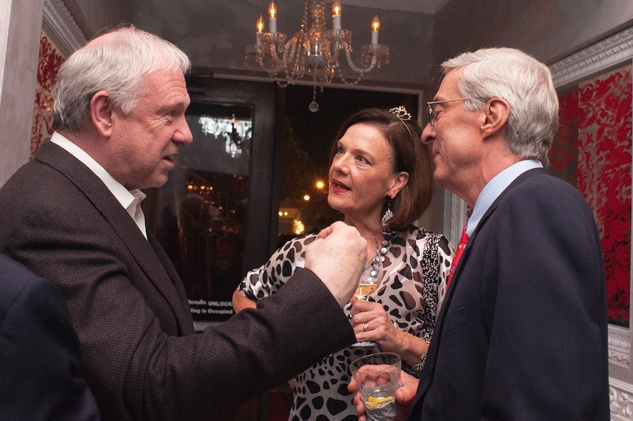 107 John Thrash, from left, with Sally and Philip Edmundson at the Stages Repertory Theatre Soiree Marie October 2014