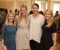 10 Winne Simmons, from left, Laura Talbert, Catherine Renaudine and Pagie Simmons at the Children's Museum Friends Families Luncheon March 2015