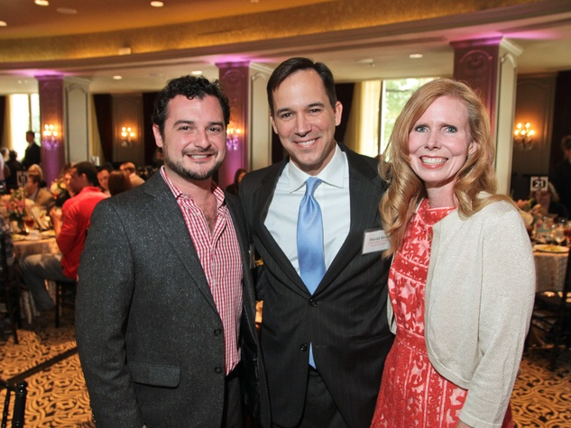 at the Children at Risk luncheon October 2013 David Cordua, left, with David and Holly Brast