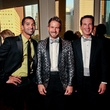 Angel Rios, from left, Jeff Shell and Richard Dawson at Bering Omega's Sing for Hope