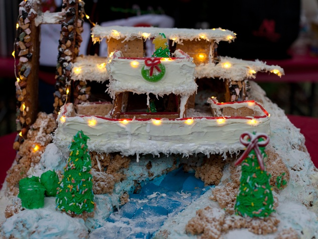 3 AIA Gingerbread build-off December 2013 1st Runner Up _ Art Institute with Falling Water