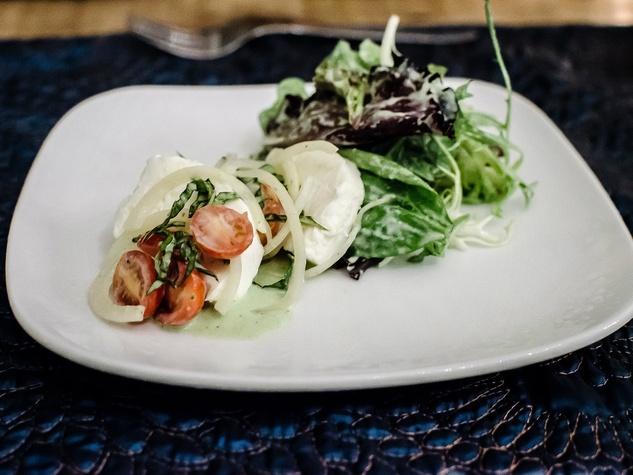 The Inn at Onion Creek mozzarella salad