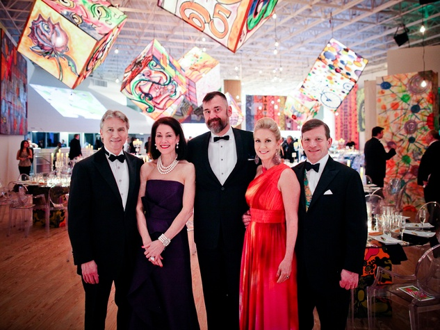 Sanford and Susie Criner, from left, Bill Arnold and NAMES at the CAMH Gala April 2014
