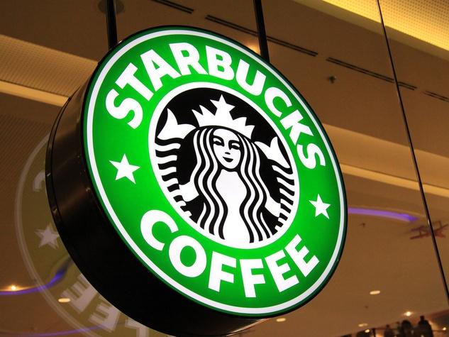 Starbucks, logo, neon sign