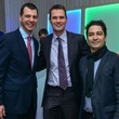 Mark Hanson, from left, Duncan Copp and Andrés Orozco-Estrada at the Young Professionals Backstage party January 2014