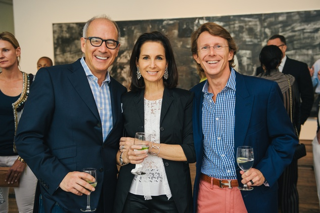 Mathew Wolf, from left, Ann Wolf and Brady Knight at the Charles James exhibit preview party at the Menil June 2014