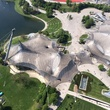 Overhead view of Olympic Park Munich