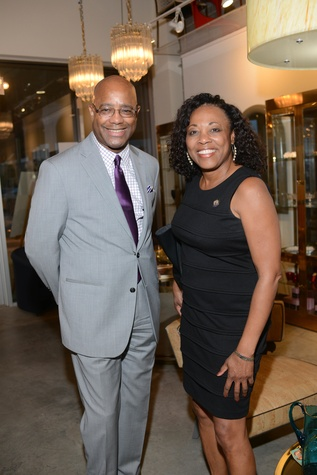 20 Michael Pearson and Vanessa Gilmore at the Houston Antique + Art + Design Show September 2014