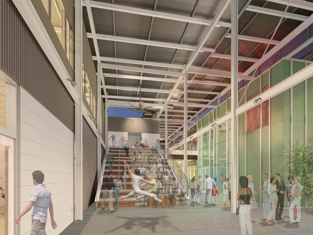 MATCH building rendering covered breezeway