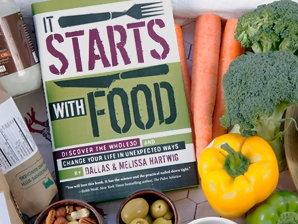 It Starts With Food cookbook with veggies