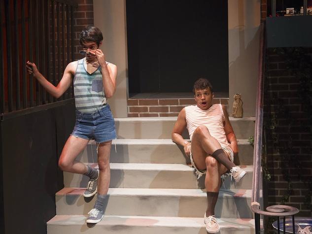 Joshua Gonzales and Rashaun Sibley in Hit the Wall