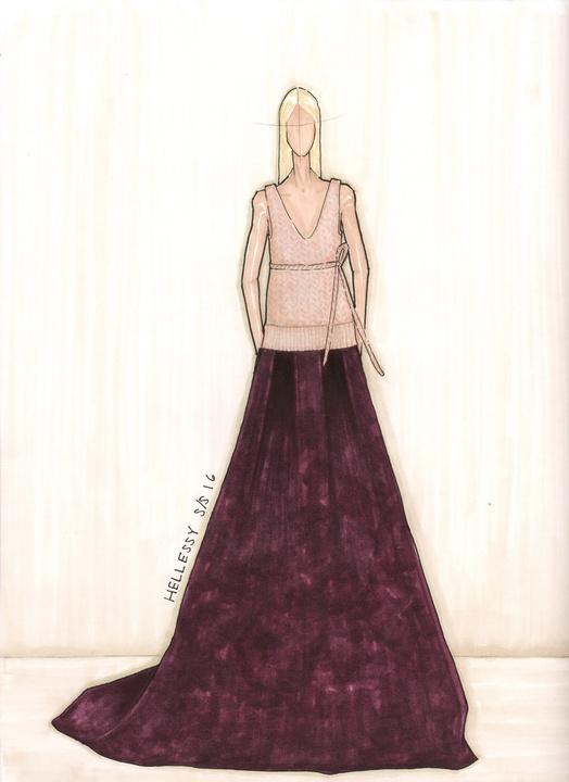Hellessy designer Sylvie Millstein spring 2016 sketch New York Fashion Week