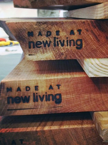 Made at New Living boards lumber