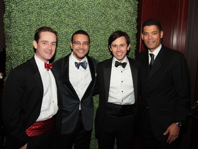 John Bresnahan, from left, Randy Wright, Matt Matthews and Wayne Franklin at West University Park Lovers Ball February 2014