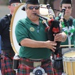 St. Patrick's Day Parade Houston, March 2013, one bagpiper