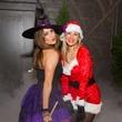 Sheena Garner, left, and Laura Salvador at the St. Luke's PULSE Saints & Sinners Halloween party October 2013