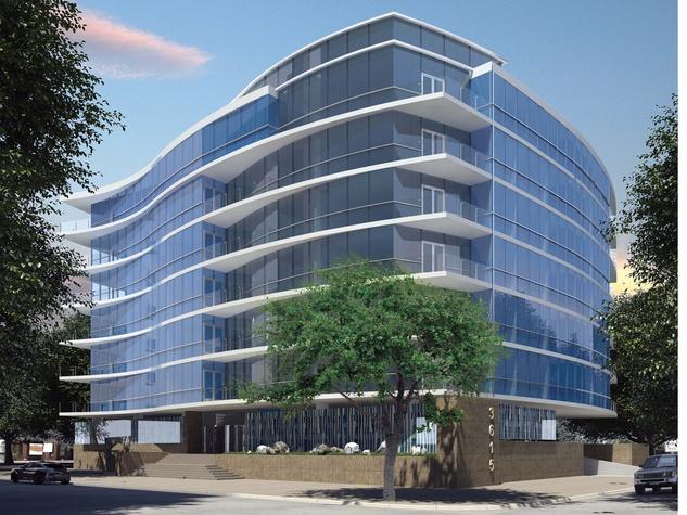Riverway Properties Montrose luxury midrise rendering August 2014 Philip Johnson/Alan Ritchie Architects