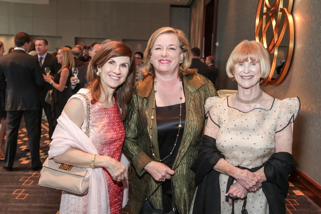 Sheila Hulme, from left, Molly Crownover and Nancy Allen at the Interfaith Ministries Tapestry Gala May 2014