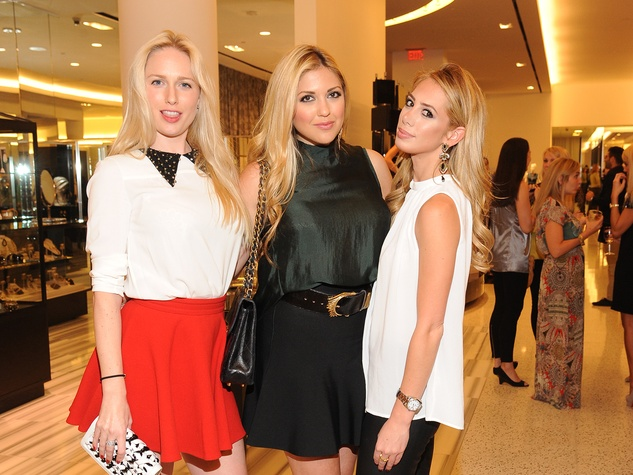 11 Lori Krohn, from left, Eva Harvard and Elizabeth Webster at The Orange Show's A Couture Cause party