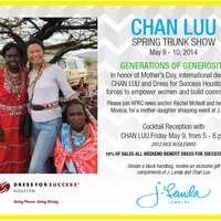 Trunk show benefiting Dress for Success Houston: Chan Luu