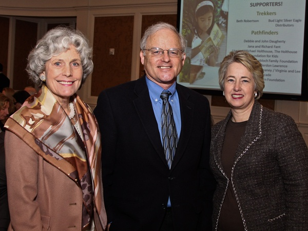 Wilderness Houston luncheon, February 2013, Beth Robertson, Richard Louv, Mayor Annise Parker