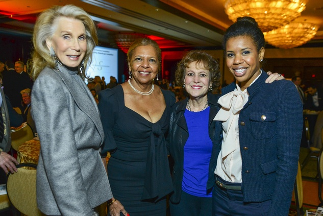 Joan Schnitzer Levy, from left, Yvonne Cormier, Regina Rogers and Claire Cormier Thielke at the National Philanthropy Day luncheon November 2013