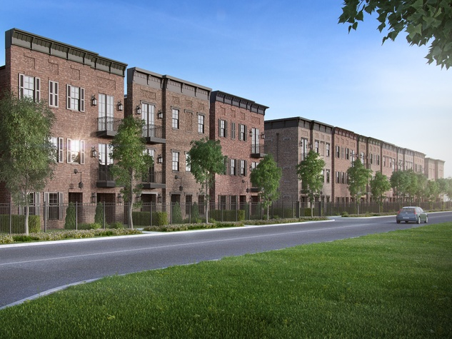 Studemont Heights townhomes rendering March 2015