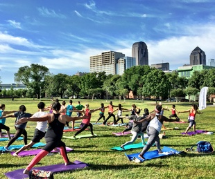 Yoga in Griggs Park